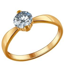 Помолвочное кольцо из позолоченного серебра 93010485
