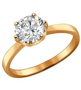 Помолвочное кольцо из позолоченного серебра 93010536