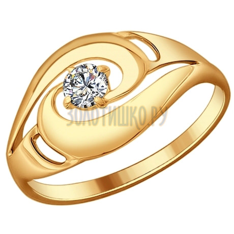 Кольцо из серебра с фианитом 93010598