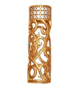 Подвеска-шарм из золочёного серебра с фианитами 93030170
