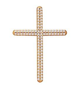 Декоративный крестик с фианитами 93030219