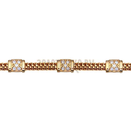 Изящный браслет из золоченого серебра 93050041
