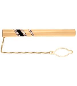 Стильный зажим для галстука из серебра с позолотой 93090001