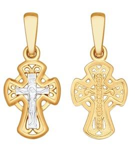 Крест из золочёного серебра 93120040
