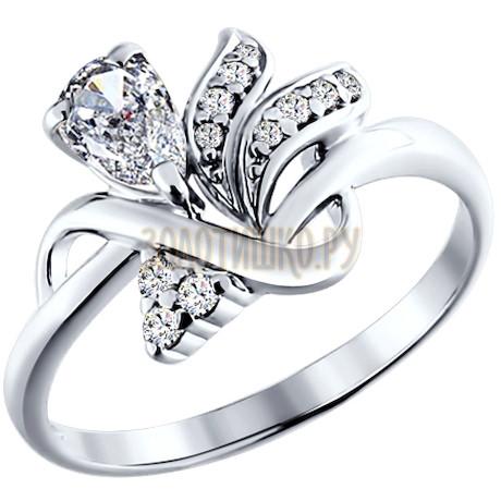 Кольцо из серебра с фианитами 94010506