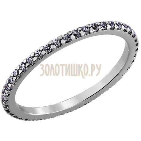 Кольцо из серебра с фианитами 94010609