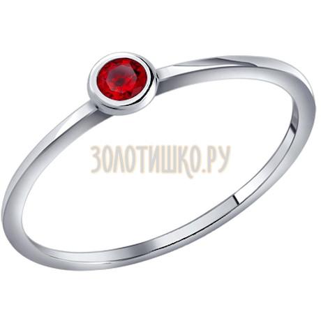 Кольцо из серебра с фианитом 94010639