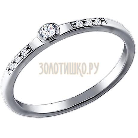 Помолвочное кольцо из серебра с фианитами 94010698