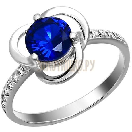 Кольцо из серебра с фианитами 94010848