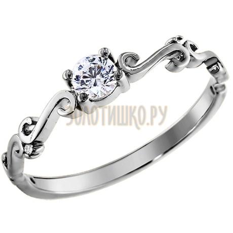 Кольцо из серебра с фианитами 94010907