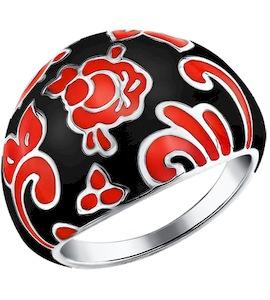 Широкое кольцо стилизованное под Хохломскую роспись 94011114