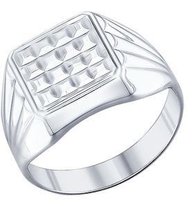 Печатка из серебра с алмазной гранью 94011230