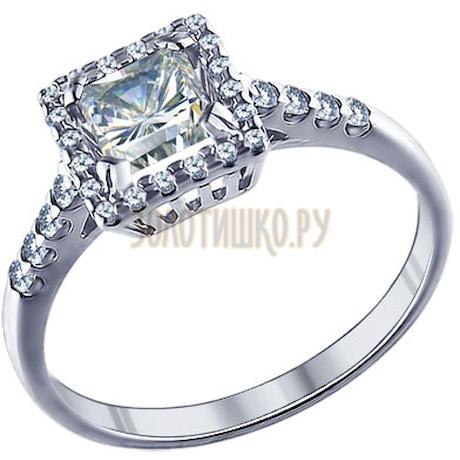 Кольцо из серебра с фианитами 94011244