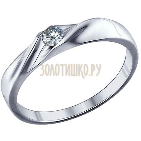 Помолвочное кольцо из серебра с фианитом 94011253