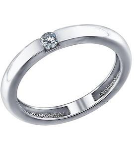 Помолвочное кольцо из серебра с фианитом 94011254