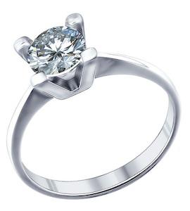 Кольцо для помолвки из серебра 94011273