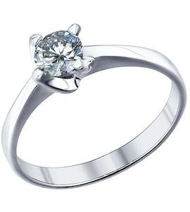 Помолвочное кольцо из серебра с фианитом 94011277