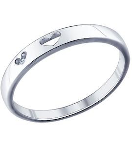 Помолвочное кольцо из серебра с фианитом 94011294