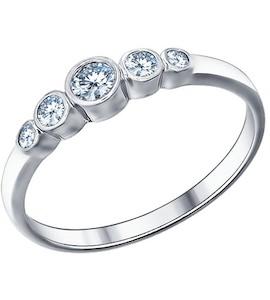 Кольцо «Зимние ягоды» из серебра с фианитами 94011317