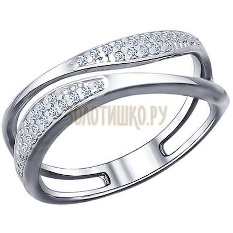 Кольцо из серебра с фианитами 94011320