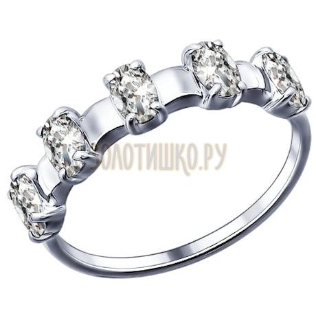 Кольцо из серебра с фианитами 94011448