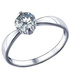 Помолвочное кольцо из серебра с фианитом 94011489