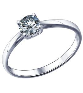 Помолвочное кольцо из серебра с фианитом 94011490