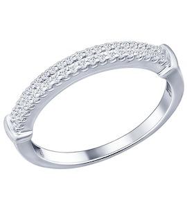 Кольцо из серебра с фианитами 94011573