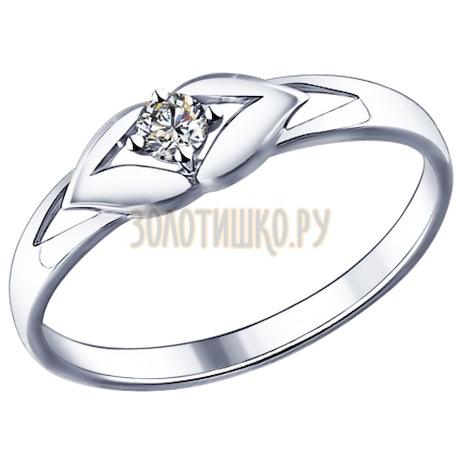 Кольцо из серебра с фианитом 94011585