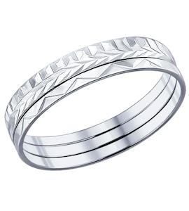 Кольцо наборное из серебра с алмазной гранью 94011590