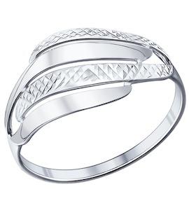 Кольцо из серебра с алмазной гранью 94011697