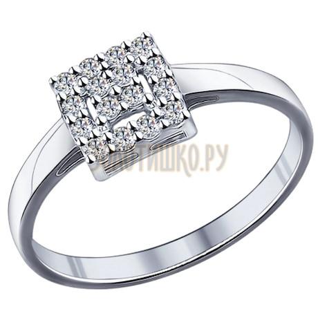 Кольцо из серебра с фианитами 94011712
