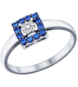 Кольцо из серебра с фианитами 94011713