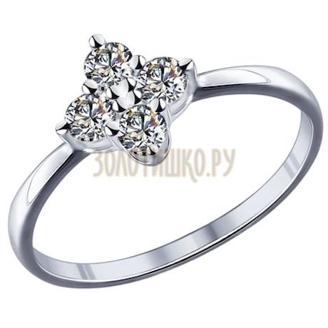 Кольцо из серебра с фианитами 94011739