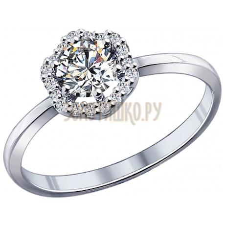 Кольцо из серебра с фианитами 94011747