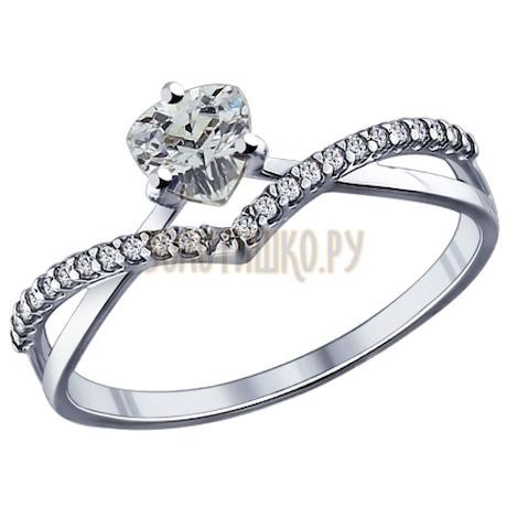 Кольцо из серебра с фианитами 94011750