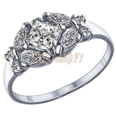 Кольцо из серебра с фианитами 94011751