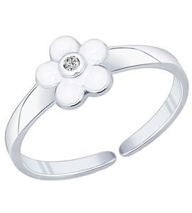 Кольцо из серебра с эмалью с фианитом 94011759