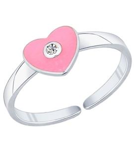 Кольцо из серебра с эмалью с фианитом 94011760