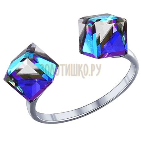 Кольцо из серебра с кристаллами swarovski 94011785