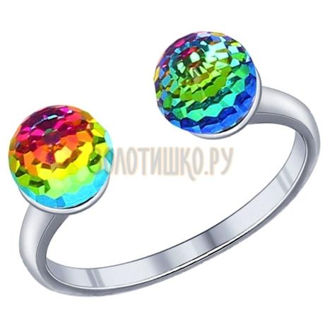 Кольцо из серебра с кристаллами swarovski 94011788