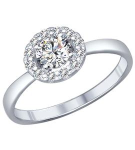 Кольцо из серебра с фианитами 94011809
