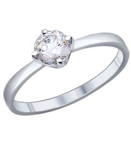 Помолвочное кольцо из серебра с фианитом 94011811