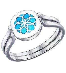Кольцо-трансформер из серебра с эмалью с фианитом 94011826
