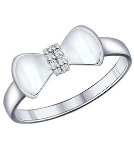 Кольцо из серебра с фианитами 94011856