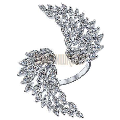 Кольцо из серебра с фианитами 94011896