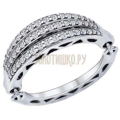 Кольцо из серебра с фианитами 94011901