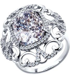 Кольцо из серебра с кристаллами Swarovski 94011944