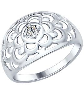 Кольцо из серебра с фианитом 94011951