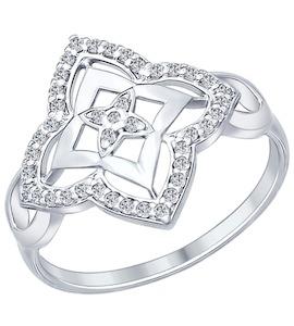 Кольцо из серебра с фианитами 94011956